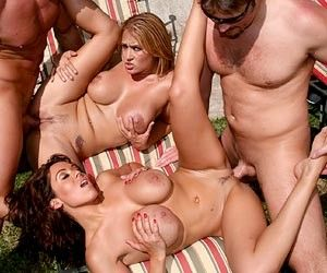 Orgy boobs cock